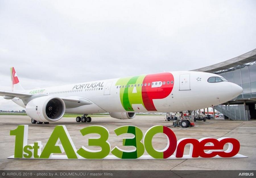 Prevzet prvi Airbus A330-900 – letel bo iz Lizbone