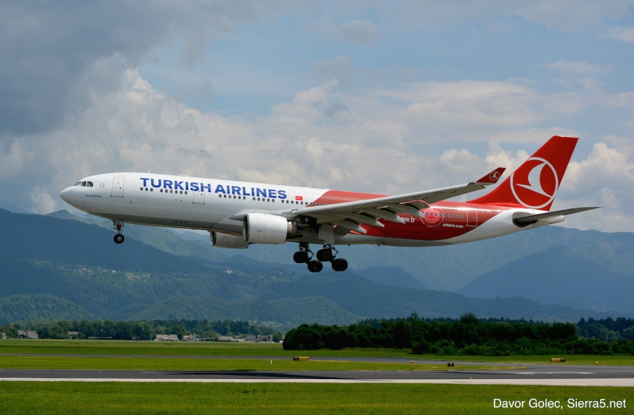 Turkish Airlines povečuje kapacitete na letih iz Ljubljane
