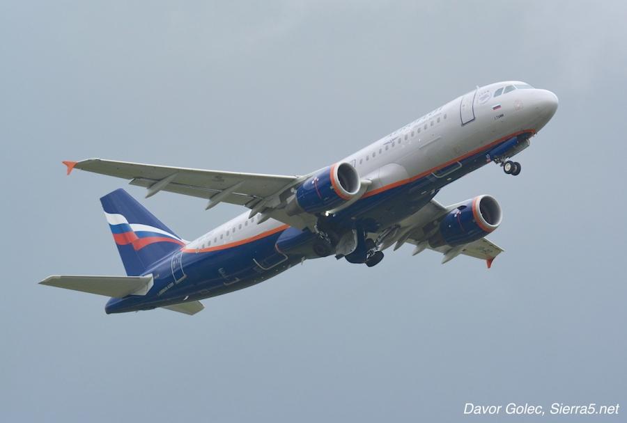 Aeroflot dvakrat na dan iz Ljubljane v Moskvo
