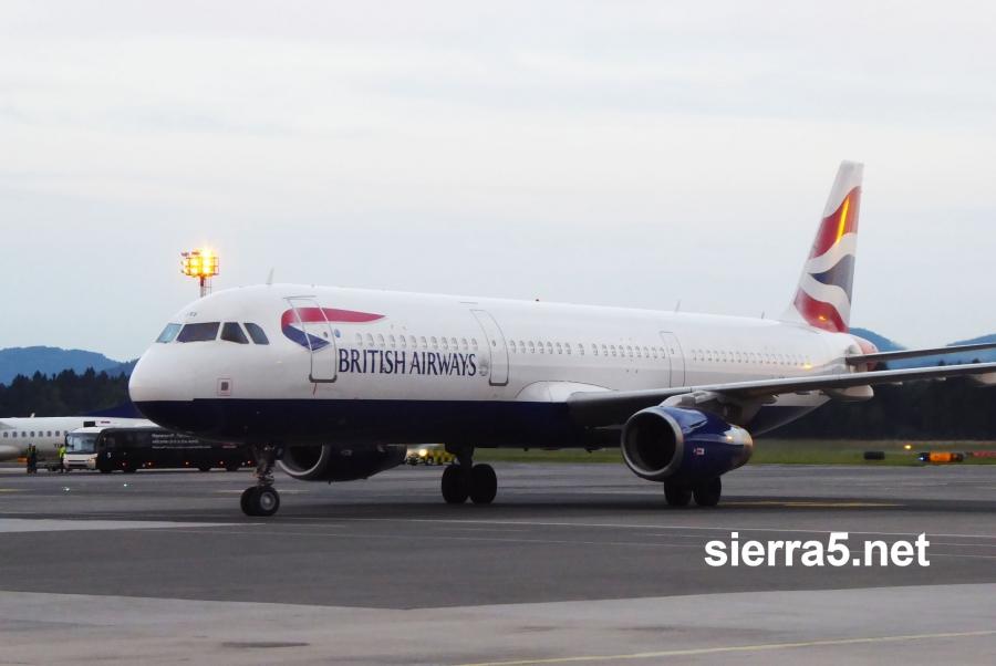 British Airways po 18 letih ponovno na Brniku