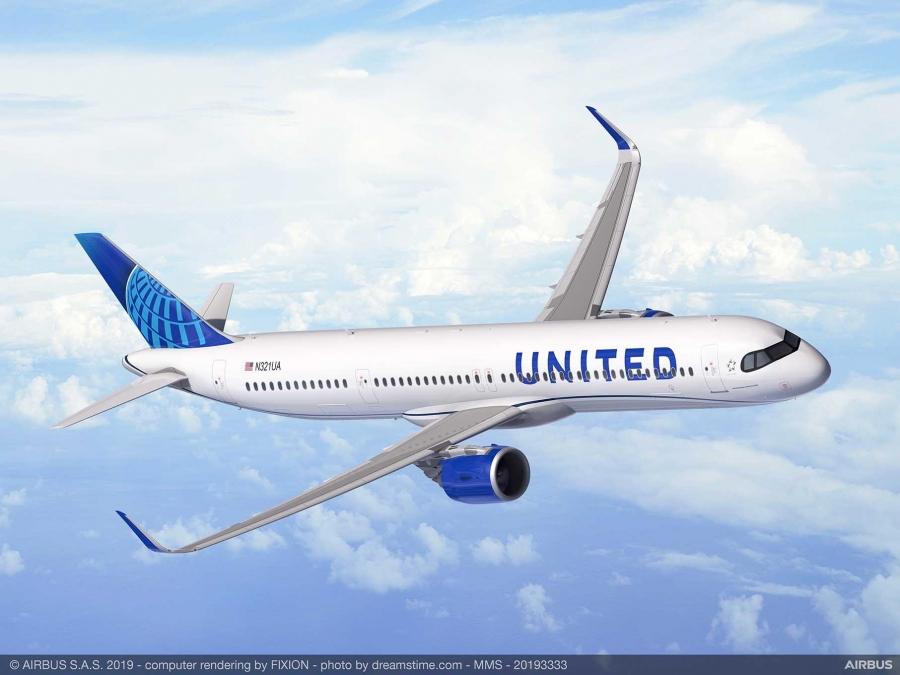 United Airlines naročil 50 letal Airbus A321XLR