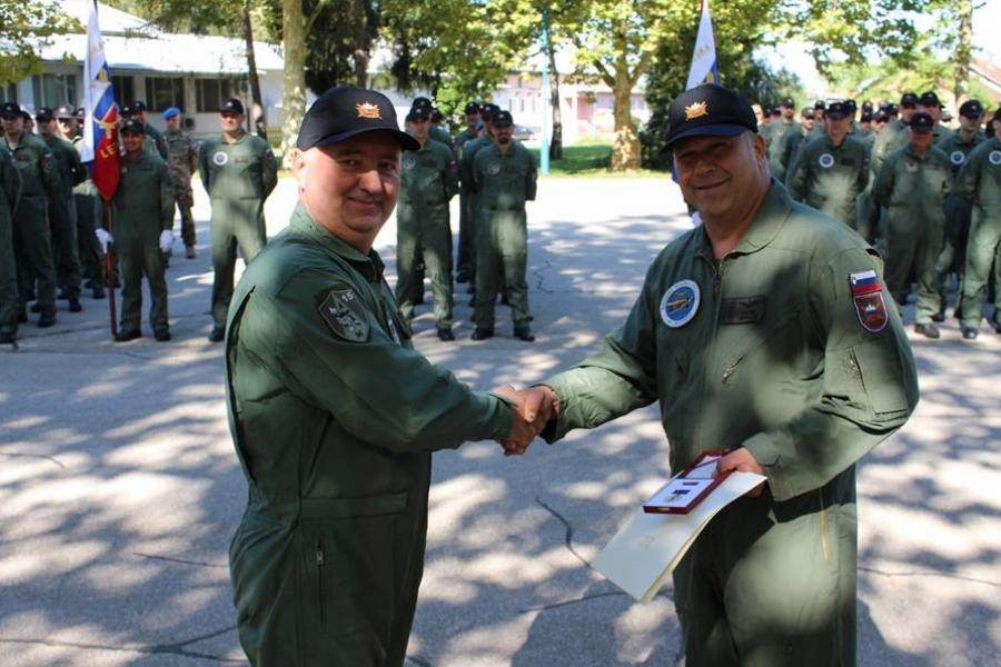 Primopredaja dolžnosti poveljnika 15. polka vojaškega letalstva